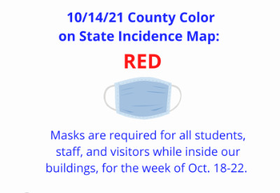 Masking Required for Week of Oct. 18-22