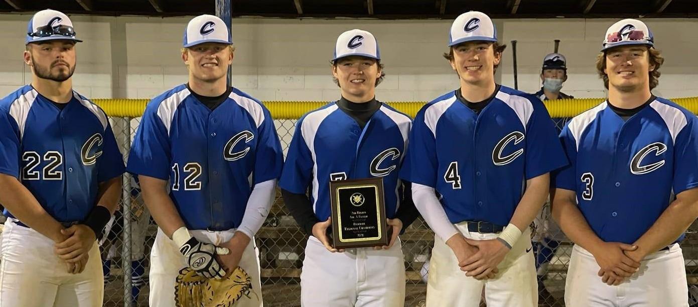 Senior baseball players